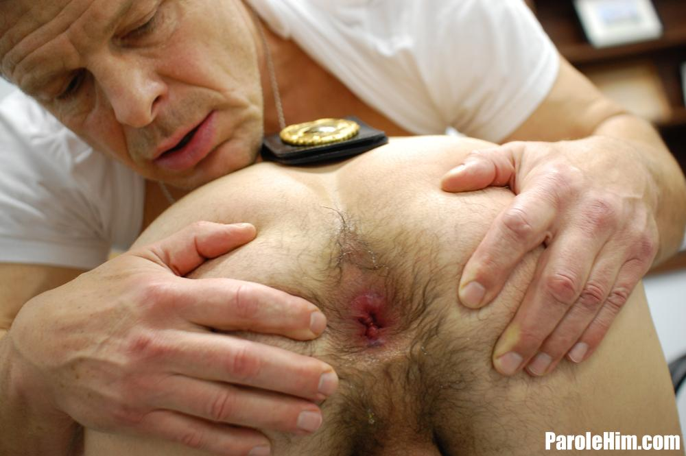 ParoleHim-Michael-Covington-gets-barebacked-by-a-thick-cock-parole-officer-15 Thick Cock Muscle Parole Officer Barebacks A Tight Young Straight Criminal