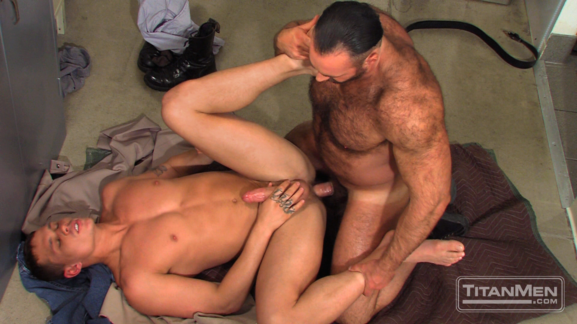 otla_scene02_024 Hung Hairy Muscle Corrections Officer Fucks A Smooth Hung Muscle Inmate